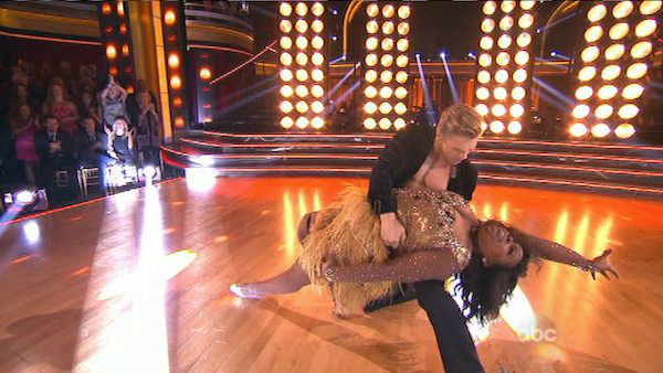"<div class=""meta ""><span class=""caption-text "">Amber Riley and Derek Hough dance the Samba on week six of 'Dancing With The Stars' on Oct. 21, 2013. They received 28 out of 30 points from the judges. The two received 4 out of 4 extra points from the 'Switch-Up Challenge.' (ABC Photo)</span></div>"