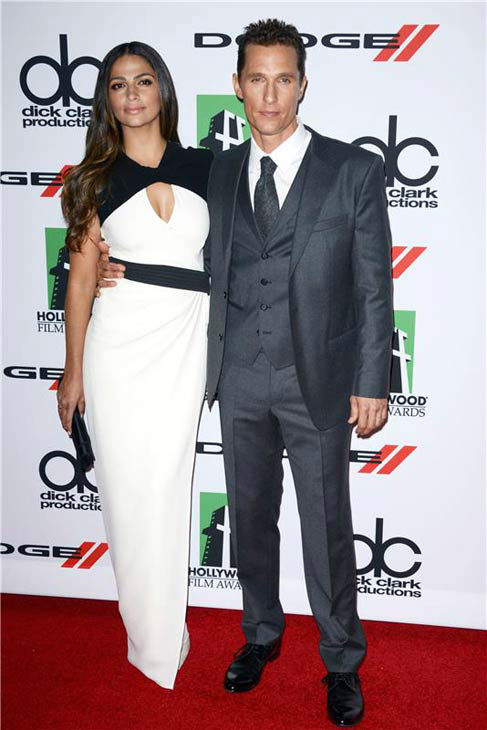 Matthew McConaughey and Camila Alves appear at the 17th annual Hollywood Film Awards in Los Angeles, California on Oct. 21, 2013. <span class=meta>(Lionel Hahn &#47; startraksphoto.com)</span>