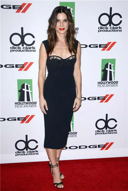 Sandra Bullock appears at the 17th annual Hollywood Film Awards in Los Angeles, California on Oct. 21, 2013.