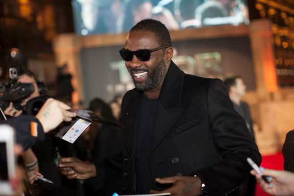 Actor Idris Elba appears at the global premiere for 'Marvel's Thor: The Dark World'at Odeon Leicester Square on October 22, 2013 in London, England.