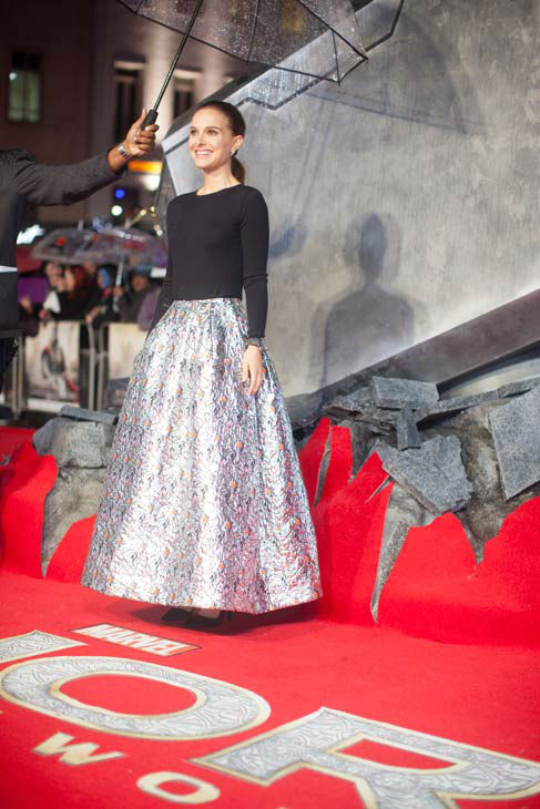 "<div class=""meta ""><span class=""caption-text "">Natalie Portman appears at the global premiere for 'Marvel's Thor: The Dark World' at Odeon Leicester Square on October 22, 2013 in London, England. (David Dettmann / Walt Disney Studios)</span></div>"