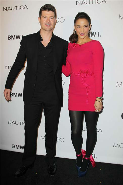 Robin Thicke and Paula Patton appear at the 2013 GQ Gentlemen&#39;s Give Back Ball in New York City on Oct. 23, 2013. <span class=meta>(Amanda Schwab &#47; startraksphoto.com)</span>