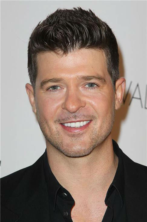 Robin Thicke appears at the 2013 GQ Gentlemen's Give Back Ball in New York City on Oct. 23, 2013.