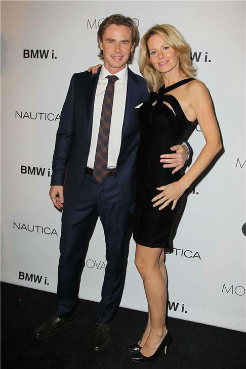 "<div class=""meta ""><span class=""caption-text "">Sam Trammell of 'True Blood' appears with wife Missy Yager at the 2013 GQ Gentlemen's Give Back Ball in New York City on Oct. 23, 2013. (Amanda Schwab / startraksphoto.com)</span></div>"