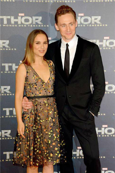 Natalie Portman and Tom Hiddleston appear at the premiere of &#39;Thor: The Dark World&#39; in Paris on Oct. 23, 2013. <span class=meta>(Nicolas Briquet&#47;Abaca&#47;startraksphoto.com)</span>