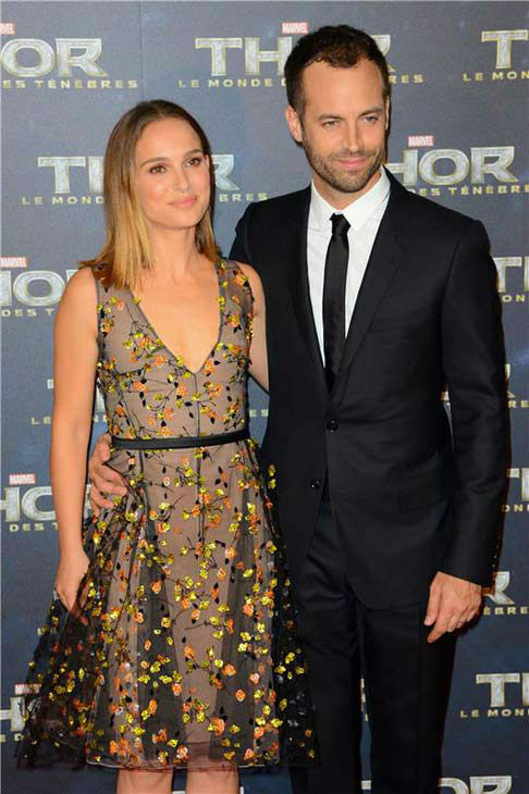 "<div class=""meta ""><span class=""caption-text "">Natalie Portman and Benjamin Millepied appear at the premiere of 'Thor: The Dark World' in Paris on Oct. 23, 2013.  (Nicolas Briquet/Abaca/startraksphoto.com)</span></div>"