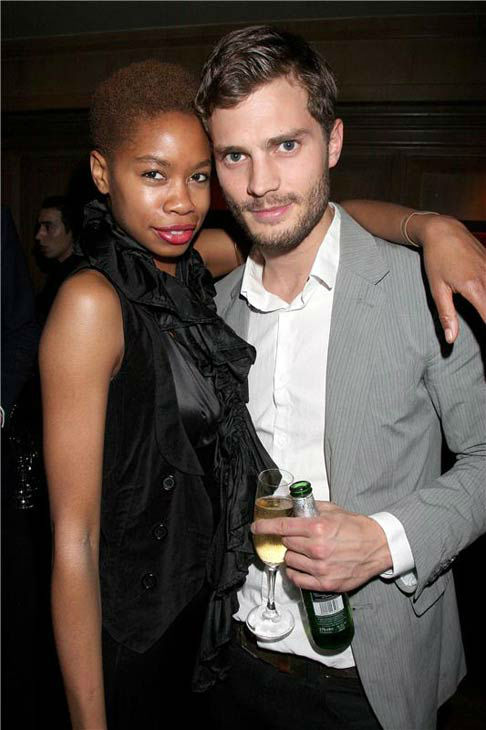 Jamie Dornan appears with Tolulah at The Hollywood Domino Game Launch Party in London on Nov. 7, 2008.