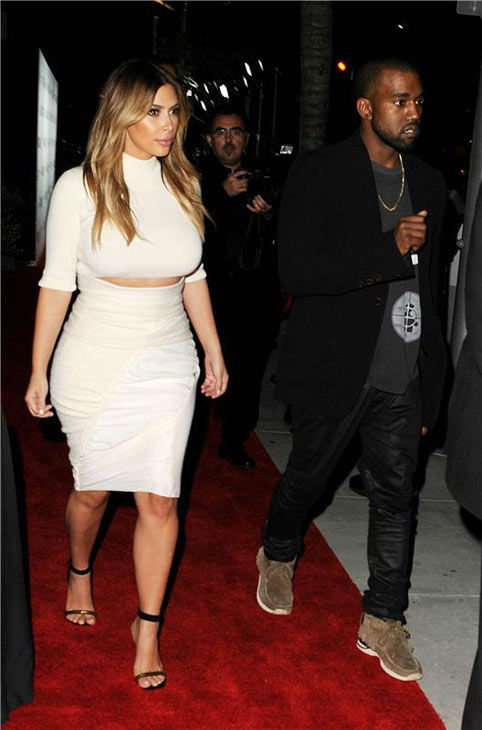 Kim Kardashian and Kanye West appear at the 2013 Dream for Future Africa Foundation Inaugural Gala at Spago in Beverly Hills, California, on Oct. 24, 2013. <span class=meta>(Daniel Robertson&#47;startraksphoto.com)</span>