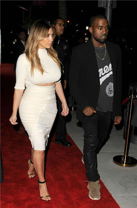 "<div class=""meta ""><span class=""caption-text "">Kim Kardashian and Kanye West appear at the 2013 Dream for Future Africa Foundation Inaugural Gala at Spago in Beverly Hills, California, on Oct. 24, 2013. (Daniel Robertson/startraksphoto.com)</span></div>"