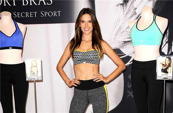 "<div class=""meta image-caption""><div class=""origin-logo origin-image ""><span></span></div><span class=""caption-text"">Alessandra Ambrosio appears at the launch of Victoria's Secret's 'World's Best Sport Bras' in Beverly Hills, California, on Oct. 24, 2013. (Sara De Boer/startraksphoto.com)</span></div>"