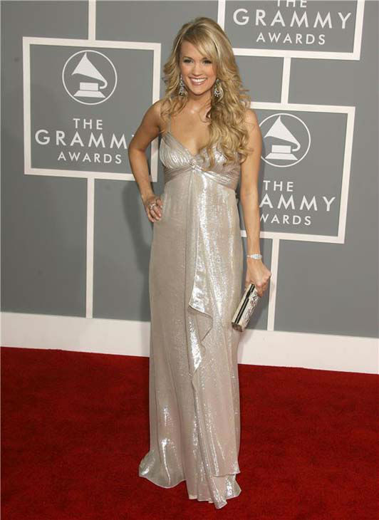 Carrie Underwood appears at the 49th annual GRAMMY Awards in Los Angeles, California on Feb. 11, 2007.