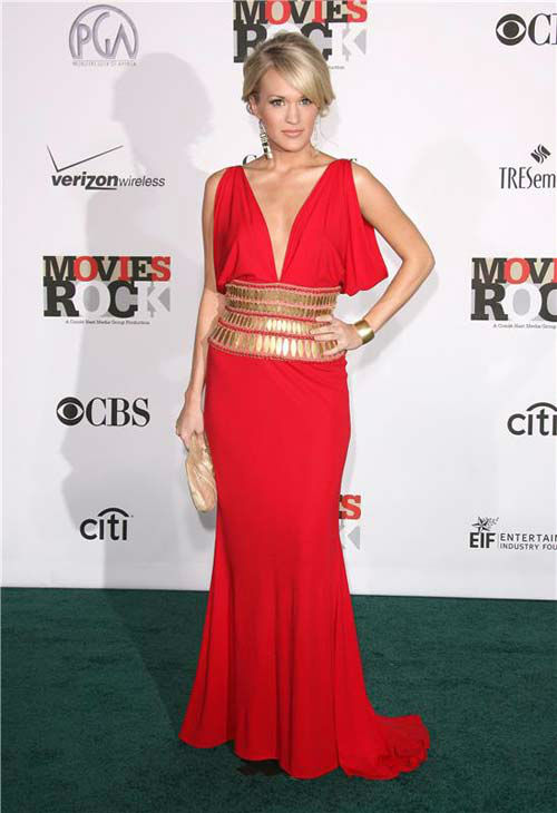 "<div class=""meta ""><span class=""caption-text "">Carrie Underwood appears at the 1st annual Movies Rock Awards in Los Angeles, California on Dec. 2, 2007.  (Jen Lowery / startraksphoto.com)</span></div>"