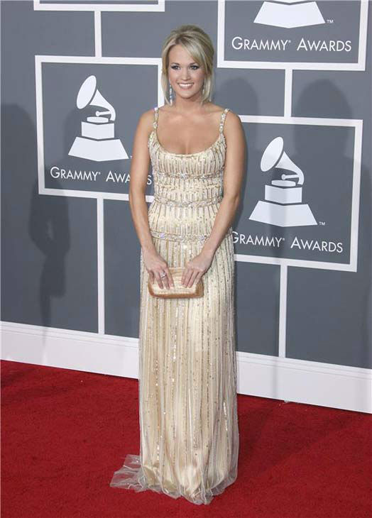 "<div class=""meta ""><span class=""caption-text "">Carrie Underwood appears at the 51st annual GRAMMY Awards in Los Angeles, California on Feb. 8, 2009.  (Jen Lowery / startraksphoto.com)</span></div>"