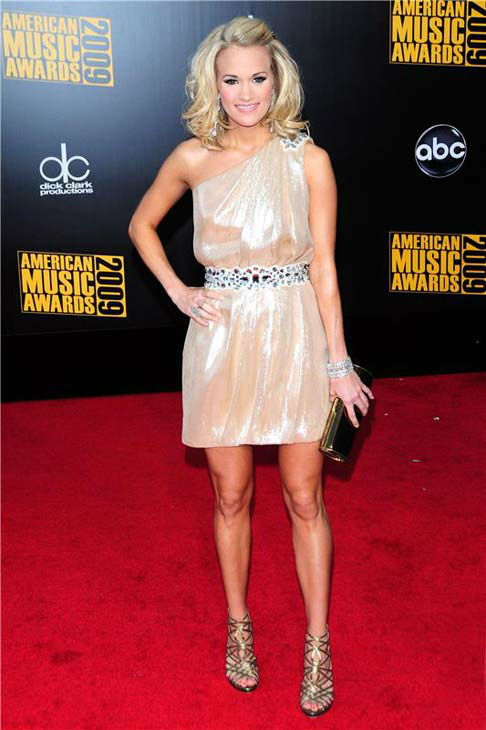"<div class=""meta ""><span class=""caption-text "">Carrie Underwood appears at the 2009 American Music Awards in Los Angeles, California on Nov. 22, 2009.  (Michael Williams / startraksphoto.com)</span></div>"