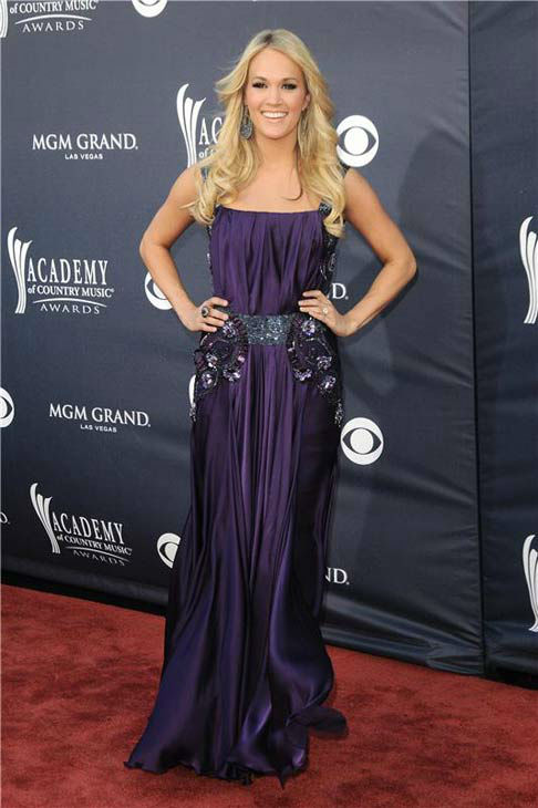 Carrie Underwood appears at the 46th annual Academy of Country Music Awards in Las Vegas, Nevada on April 3, 2011.