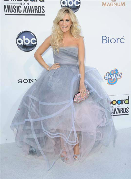 Carrie Underwood appears at the 2012 Billboard Music Awards in Las Vegas, Nevada on May 20, 2012.