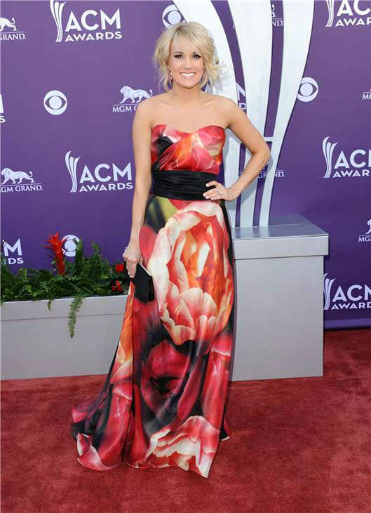 Carrie Underwood appears at the 48th annual Academy of Country Music Awards in Las Vegas, Nevada on April 7, 2013.