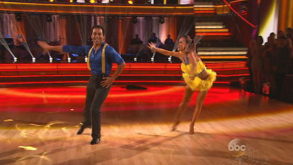 "<div class=""meta image-caption""><div class=""origin-logo origin-image ""><span></span></div><span class=""caption-text"">Corbin Bleu and Karina Smirnoff dance the Cha Cha Cha on week seven of 'Dancing With The Stars' on Oct. 28, 2013. They received 29 out of 30 points from the judges. The two received 30 out of 30 extra points from the team dance. (ABC Photo)</span></div>"