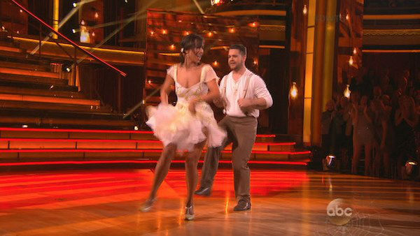 Jack Osbourne and Cheryl Burke dance the Jive on week seven of &#39;Dancing With The Stars&#39; on Oct. 28, 2013. They received 27 out of 30 points from the judges. The two received 30 out of 30 extra points from the team dance. <span class=meta>(ABC Photo)</span>