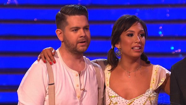 Jack Osbourne and Cheryl Burke danced the Jive on week seven of &#39;Dancing With The Stars&#39; on Oct. 28, 2013. They received 27 out of 30 points from the judges. The two received 30 out of 30 extra points from the team dance. <span class=meta>(ABC Photo)</span>