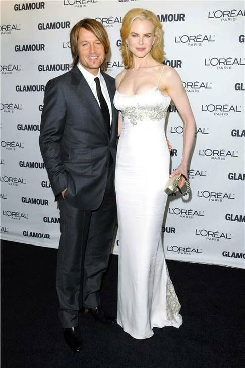 Nicole Kidman and Keith Urban appear at Glamour Magazine's 2008 Women of the Year Awards in New York City on Nov. 10, 2008.