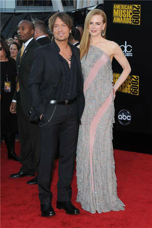 Nicole Kidman and Keith Urban appear at the 2009 American Music Awards in Los Angeles, California on Nov. 22, 2009.