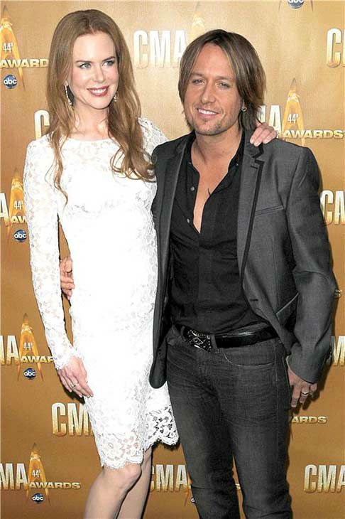 Nicole Kidman and Keith Urban appear at the 44th annual CMA Awards in Nashville, Tennessee on Nov. 10, 2010.