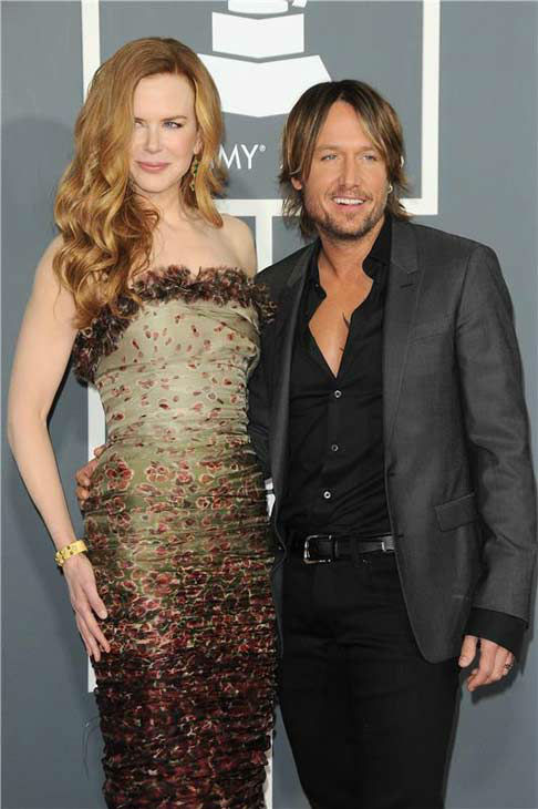Nicole Kidman and Keith Urban appear at the 53rd annual GRAMMY Awards in Los Angeles, California on Feb. 13, 2011.