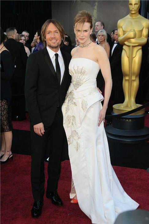 Nicole Kidman and Keith Urban appear at the 83rd annual Academy Awards in Los Angeles, California on Feb. 27, 2011.