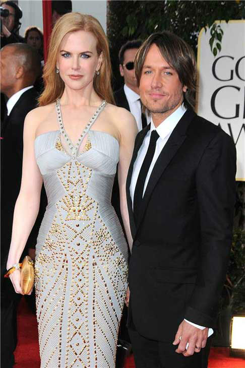 Nicole Kidman and Keith Urban appear at the 69th annual Golden Globe Awards in Los Angeles, California on Jan. 15, 2012.