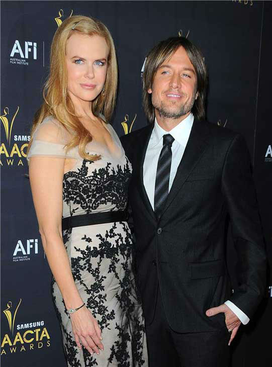 Nicole Kidman and Keith Urban appear at the Australian Academy of Cinema and Television Arts International Awards in Los Angeles, California on Jan. 27, 2012.