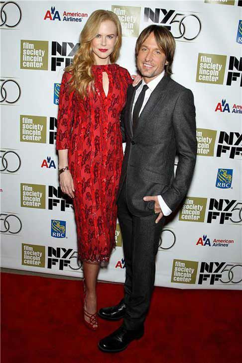 Nicole Kidman and Keith Urban appear at The Film Society of Lincoln Center Gala in New York City on Oct. 3, 2012.