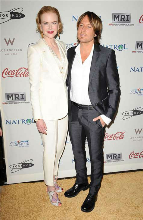 Nicole Kidman and Keith Urban appear at the Gold Meets Golden Celebration in Los Angeles, California on Jan. 12, 2013.