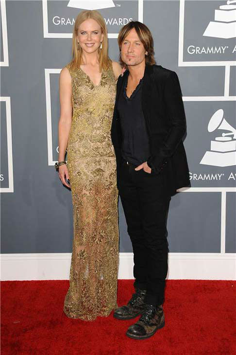 Nicole Kidman and Keith Urban appear at the 55th annual GRAMMY Awards in Los Angeles, California on Feb. 10, 2013.