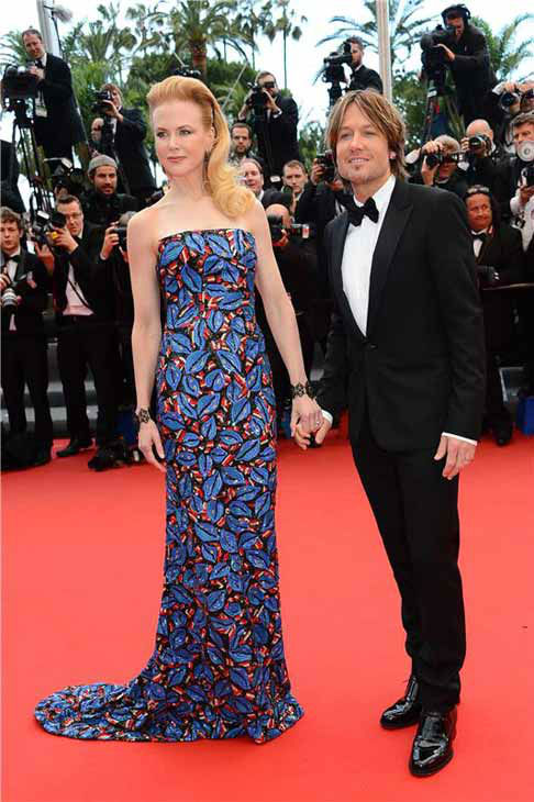 Nicole Kidman and Keith Urban appear at the 66th annual Cannes Film Festival on May 19, 2013.