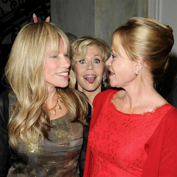 Jane Fonda executes one of the best photo bombs ever, in this photo with singer Carly Simon and actress Melanie Griffith at the 2014 Oceana&#39;s Partners Awards in Beverly Hills, California on Oct. 30, 2013. <span class=meta>(Daniel Robertson &#47; Startraksphoto.com)</span>