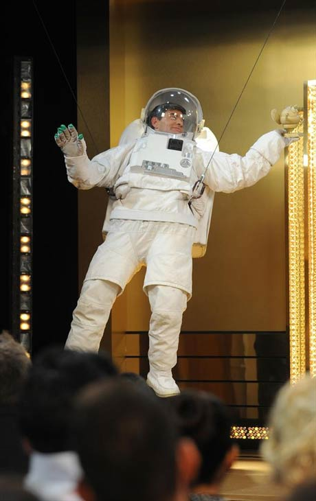 'Good Morning America' anchor George Stephanopoulos dressed as an astronaut on Oct. 31, 2013 -- Halloween.
