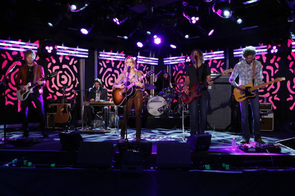 Sheryl Crow performs on a Matt Damon-hijacked episode of ABC&#39;s &#39;Jimmy Kimmel Live!,&#39; renamed &#39;Jimmy Kimmel Sucks,&#39; on Jan. 24, 2013. <span class=meta>(ABC Photo &#47; Randy Holmes)</span>