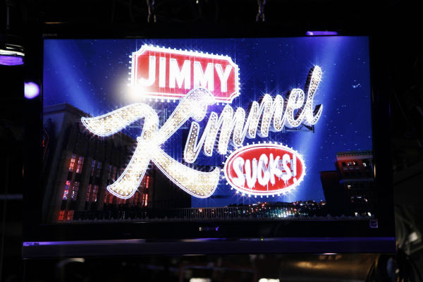 The set of a Matt Damon-hijacked episode of ABC&#39;s &#39;Jimmy Kimmel Live!,&#39; renamed &#39;Jimmy Kimmel Sucks,&#39; on Jan. 24, 2013. <span class=meta>(ABC Photo&#47; Randy Holmes)</span>