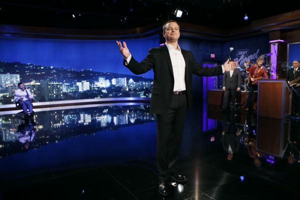 Matt Damon and Jimmy Kimmel appear on &#39;Jimmy Kimmel Live!,&#39; renamed &#39;Jimmy Kimmel Sucks,&#39; after Damon hijacked the show on Jan. 24, 2013. <span class=meta>(ABC Photo &#47; Randy Holmes)</span>