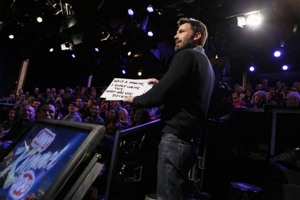 "<div class=""meta ""><span class=""caption-text "">Ben Affleck appears on a Matt Damon-hijacked episode of ABC's 'Jimmy Kimmel Live!,' renamed 'Jimmy Kimmel Sucks,' on Jan. 24, 2013. (ABC Photo / Randy Holmes)</span></div>"