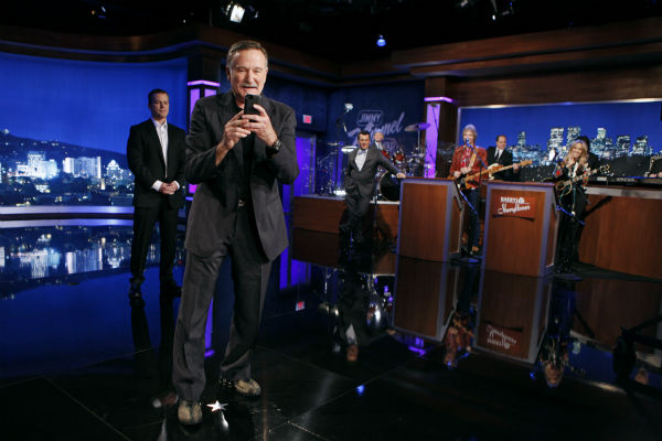 Robin Williams appears on a Matt Damon-hijacked episode of ABC&#39;s &#39;Jimmy Kimmel Live!,&#39; renamed &#39;Jimmy Kimmel Sucks,&#39; on Jan. 24, 2013. <span class=meta>(ABC Photo &#47; Randy Holmes)</span>
