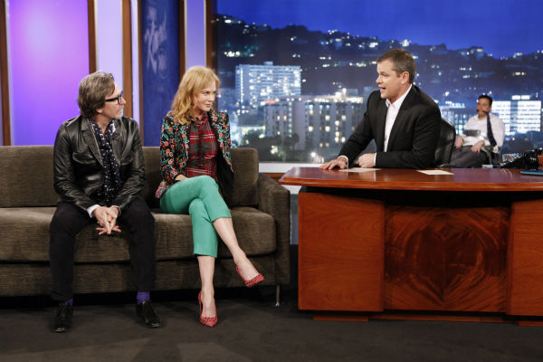 Matt Damon interviews Nicole Kidman and Gary Oldman on ABC's 'Jimmy Kimmel Live!,' renamed 'Jimmy Kimmel Sucks,' after Damon hijacked the show on Jan. 24, 2013.
