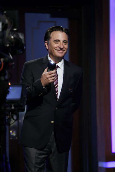 Andy Garcia appears on a Matt Damon-hijacked episode of ABC&#39;s &#39;Jimmy Kimmel Live!,&#39; renamed &#39;Jimmy Kimmel Sucks,&#39; on Jan. 24, 2013. <span class=meta>(ABC Photo &#47; Randy Holmes)</span>