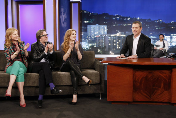 "<div class=""meta ""><span class=""caption-text "">Matt Damon interviews Nicole Kidman, Gary Oldman and Amy Adams on ABC's 'Jimmy Kimmel Live!,' renamed 'Jimmy Kimmel Sucks,' after Damon hijacked the show on Jan. 24, 2013. (ABC Photo / Randy Holmes)</span></div>"