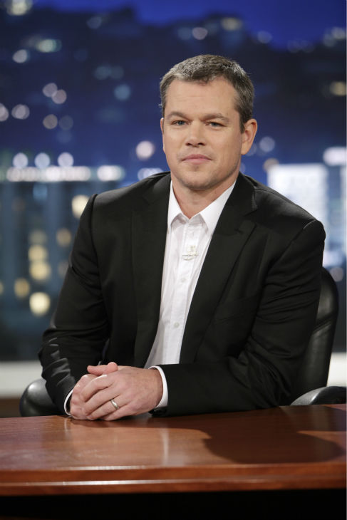 Matt Damon appears on ABC's 'Jimmy Kimmel Live!,' renamed 'Jimmy Kimmel Sucks,' after the actor hijacked the show on Jan. 24, 2013.