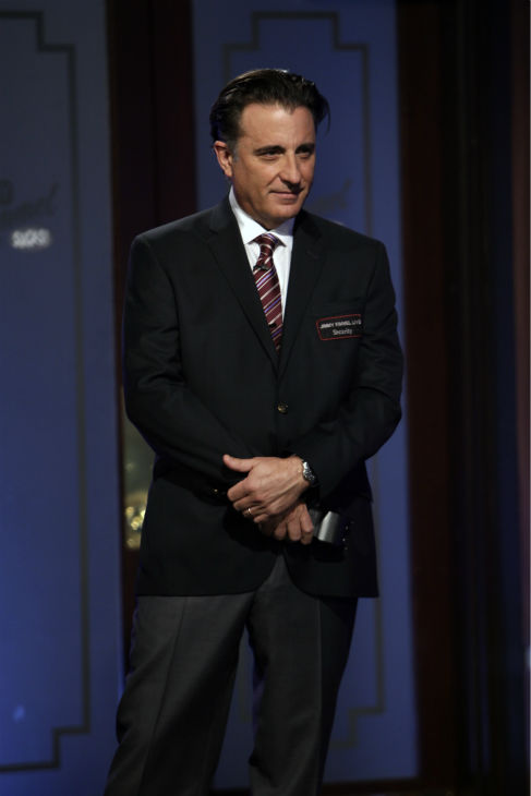 "<div class=""meta image-caption""><div class=""origin-logo origin-image ""><span></span></div><span class=""caption-text"">Andy Garcia appears on ABC's 'Jimmy Kimmel Live!,' renamed 'Jimmy Kimmel Sucks,' after Damon hijacked the show on Jan. 24, 2013. (ABC Photo / Randy Holmes)</span></div>"