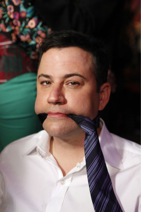 Jimmy Kimmel appears on ABC&#39;s &#39;Jimmy Kimmel Live!,&#39; renamed &#39;Jimmy Kimmel Sucks,&#39; after Damon hijacked the show on Jan. 24, 2013. <span class=meta>(ABC Photo &#47; Randy Holmes)</span>