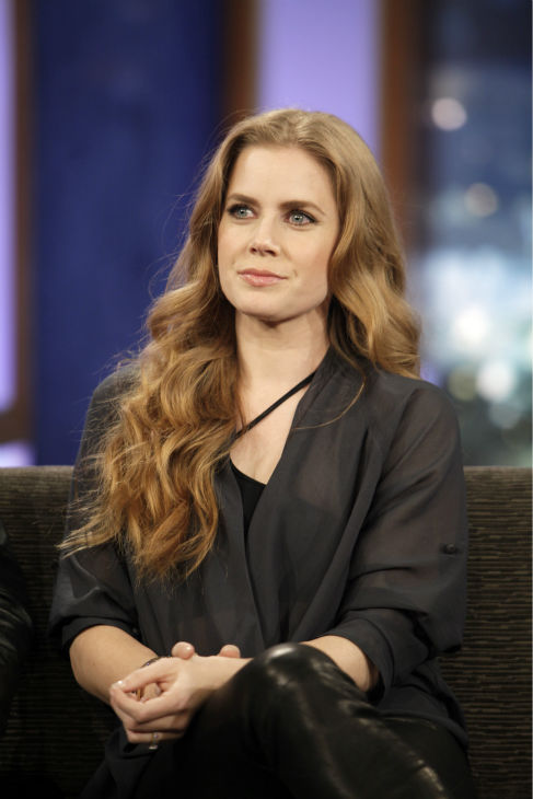 Amy Adams appears on ABC&#39;s &#39;Jimmy Kimmel Live!,&#39; renamed &#39;Jimmy Kimmel Sucks,&#39; after Damon hijacked the show on Jan. 24, 2013. <span class=meta>(ABC Photo &#47; Randy Holmes)</span>