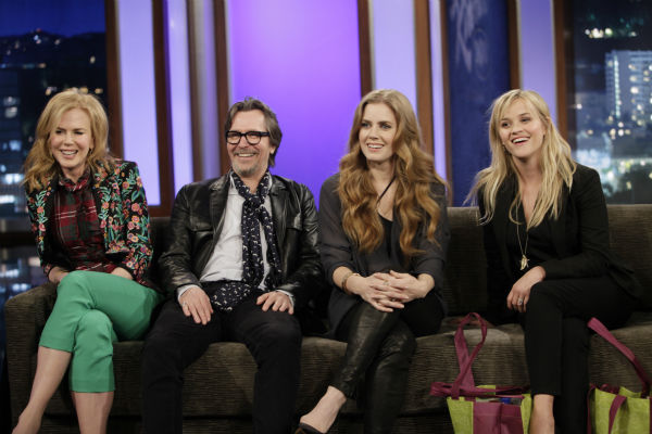 Nicole Kidman, Gary Oldman, Amy Adams and Reese Witherspoon appears on ABC&#39;s &#39;Jimmy Kimmel Live!,&#39; renamed &#39;Jimmy Kimmel Sucks,&#39; after Damon hijacked the show on Jan. 24, 2013. <span class=meta>(ABC Photo &#47; Randy Holmes)</span>